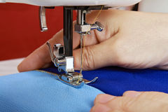 Work on the sewing machine Royalty Free Stock Image