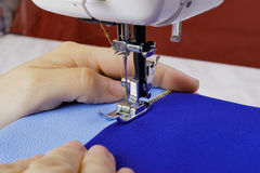 Work on the sewing machine Royalty Free Stock Images