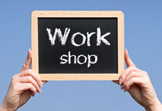 Work shop sign Royalty Free Stock Images