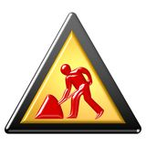 At work sign Royalty Free Stock Photography