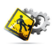 Work sign illustration Royalty Free Stock Photography