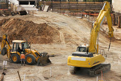 Work site. A construction work site Royalty Free Stock Photography