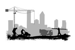Work site. Illustration of a work site Stock Photos
