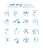 Work skills icon set Royalty Free Stock Photo