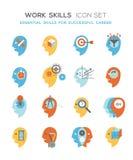 Work skills icon set Stock Image