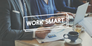 Work Smart Effective Efficient Productivity Planning Concept royalty free stock photography