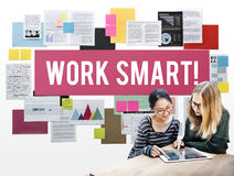 Work Smart Effectively Creative Thinking Concept Stock Photo