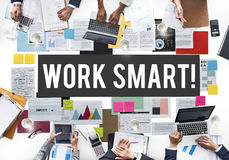 Work Smart Effectively Creative Thinking Concept Royalty Free Stock Image