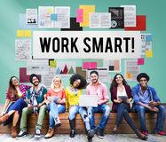 Work Smart Effectively Creative Thinking Concept Stock Photography