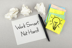Work Smart Not Hard Stock Photography