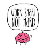 Work smart not hard  illustration Stock Image
