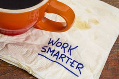 Work smarter advice Royalty Free Stock Image