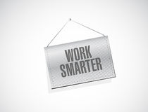 Work smarter banner sign concept. Illustration design graphic Stock Photos