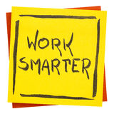 Work smarter inspirational reminder note Stock Photography