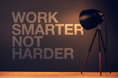 Work smarter not harder motivational quote Stock Photography