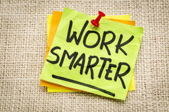 Work smarter reminder Royalty Free Stock Image