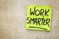 Work smarter reminder Stock Image