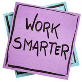 Work smarter reminder note Royalty Free Stock Images