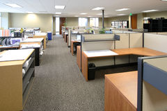Work Space. The work floor in a large corporate office of an architecture firm Royalty Free Stock Photography