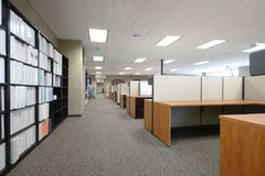 Work Space. The work floor in a large corporate office of an architecture firm Stock Image