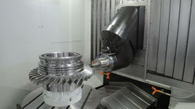 Work space of modern CNC milling machine. stock video