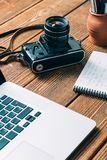 Work space for photographer Stock Image