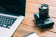Work space for photographer Royalty Free Stock Photos
