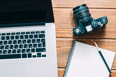 Work space for photographer Stock Photography