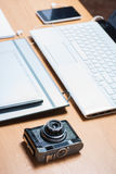 Work space for photographer Stock Images