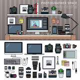 Work space for photographer Royalty Free Stock Photography
