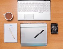 Work space for photographer Royalty Free Stock Image