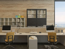 Work Stations in Modern Office Stock Image