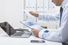 Work of a statistician Royalty Free Stock Photo