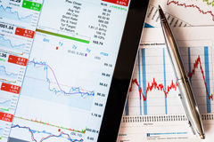 Work in stock exchange Stock Image