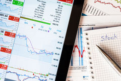 Work in stock exchange Stock Images