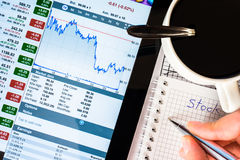 Work in stock exchange Royalty Free Stock Photography