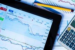 Work in stock exchange Stock Photo
