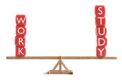 Work study balance concept Royalty Free Stock Photos