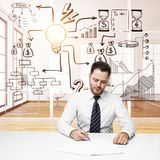Work and success concept Royalty Free Stock Images
