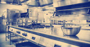 Work surface and kitchen equipment stock image