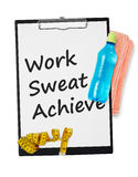 Work, sweat, achieve Stock Photos