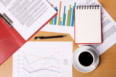 Work-table covered with documents Royalty Free Stock Image