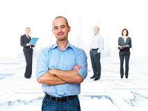 Work team. Financial background and business people Royalty Free Stock Photography