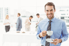 Work team during break time in office Royalty Free Stock Photos