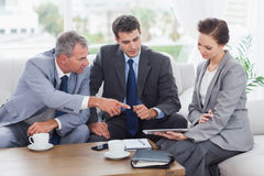 Work team having a meeting together Royalty Free Stock Photo