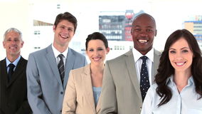 Work team standing upright together Royalty Free Stock Photo