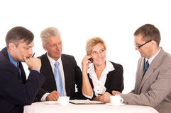 work team on a white Royalty Free Stock Photo