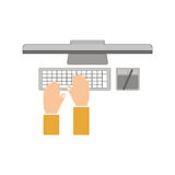 Work and technology concept. Icon vector illustration graphic design Royalty Free Stock Photos