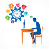 Work on time design concept Stock Photo