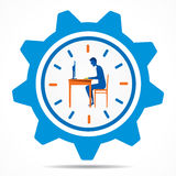 Work on time design concept Royalty Free Stock Photos
